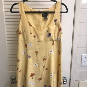Limited yellow floral dress